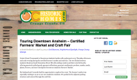 Touring Downtown Anaheim – Certified Farmers' Market and Craft Fair