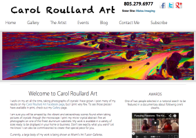 Sarah Le Website Design for Carol Roullard Art Fine Art Photography - Hi Vista Media