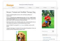 """Sonya Therapy Dog"" Service Website"