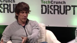 Dennis Crowley, CEO of Foursquare during a TechCrunch Disrupt 2015 Interview